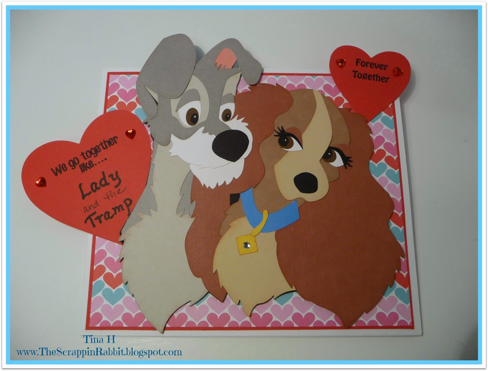 The Scrappin Rabbit Lady And The Tramp Anniversary Card Anniversary Cards Cricut Anniversary Card Valentines Cards