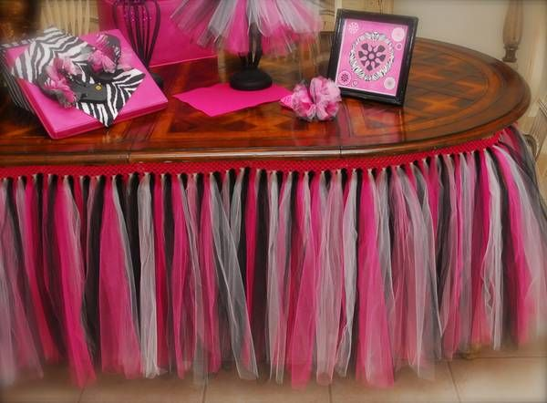Tutu Table Skirt Booth set ups