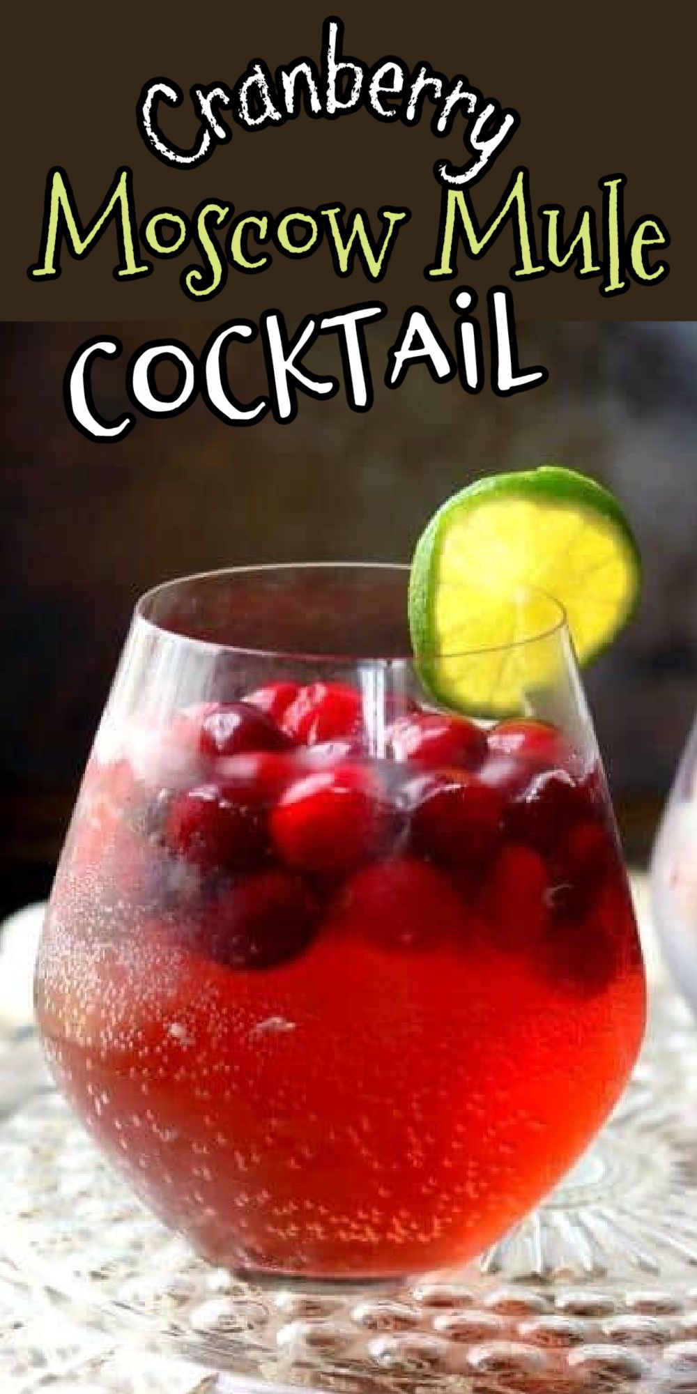 Cranberry Moscow Mule Delicious Holiday Drink Recipe In 2020 Cranberry Moscow Mule Holiday Drinks Cranberry