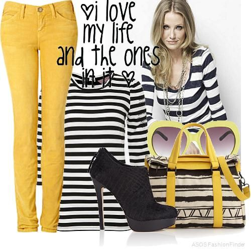 9fdf0eb06a98 Yellow Fashion | Women's Outfits YELLOW BLACK WHITE... | Mellow ...