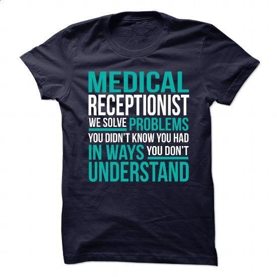 MEDICAL RECEPTIONIST - I SOLVE PROBLEMS 1 - #long #pink hoodies - medical receptionist