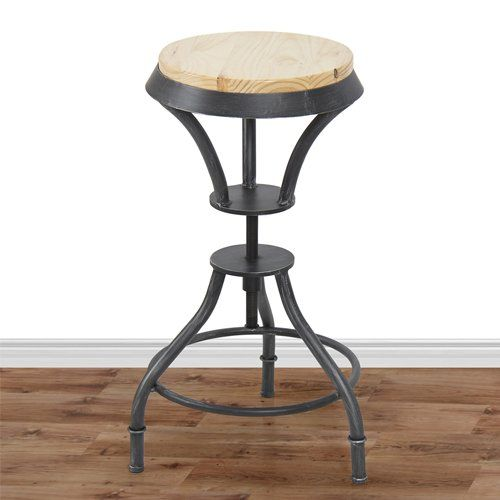 Awesome Adjustable Wood Bar Stools