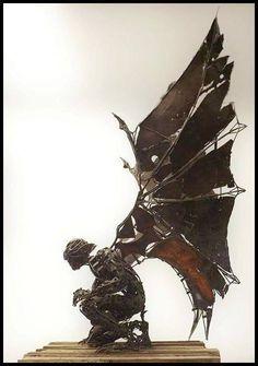 #金屬 #機械 #蒸氣龐克 #人物造型 #翼 #實體作品 #盔甲 #無差別