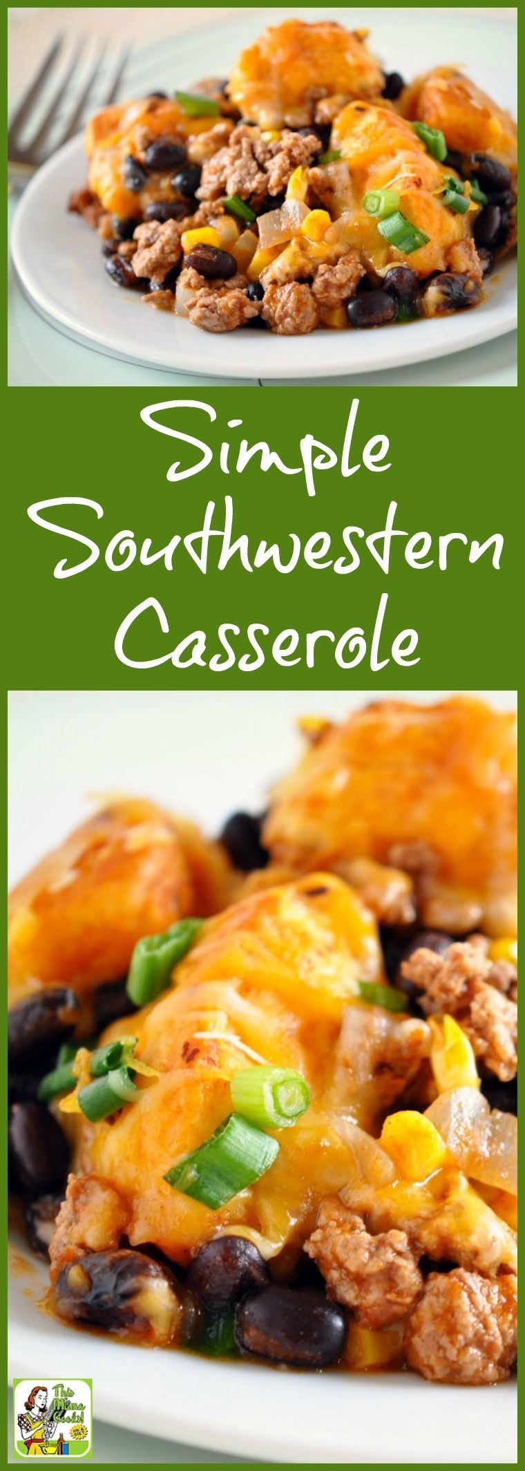 Looking for a delicious and healthy one pot recipe? Try this Simple Southwester Casserole recipe. It's the best quick and easy casserole recipe to make for weeknight dinners.