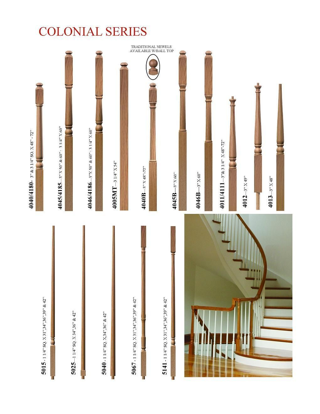 Best Stair Baluster Styles Oak Wood Spindles Colonial 400 x 300