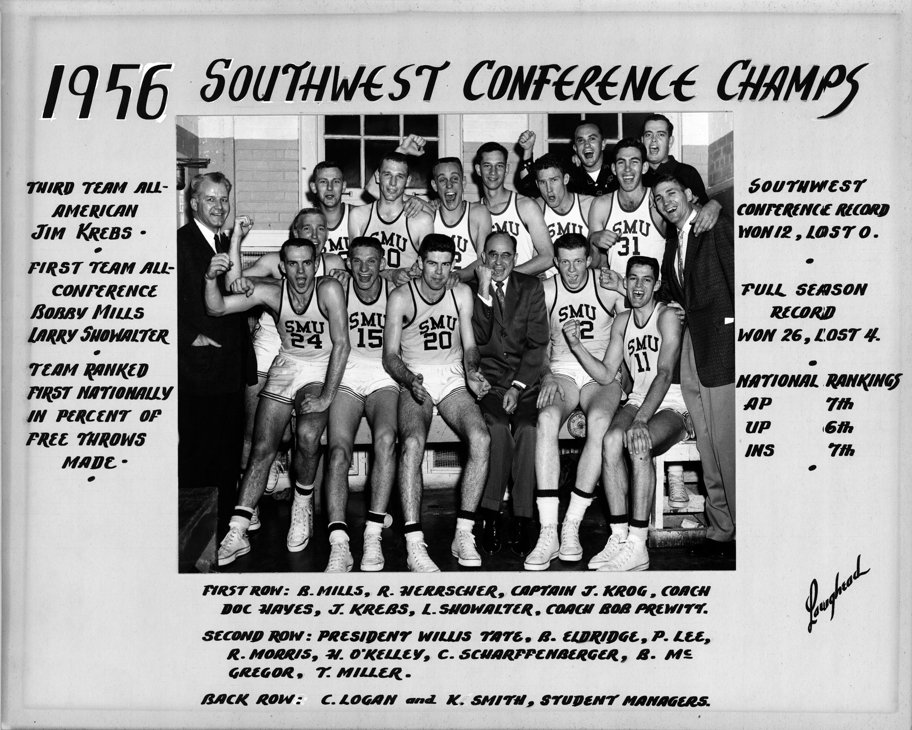 Remembering the 1955-56 @SMUBasketball Final Four team on this week's edition of #TBT #PonyUp