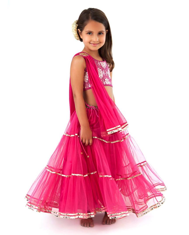 Asombroso Vestidos De Fiesta Para Niñas India Ilustración ...