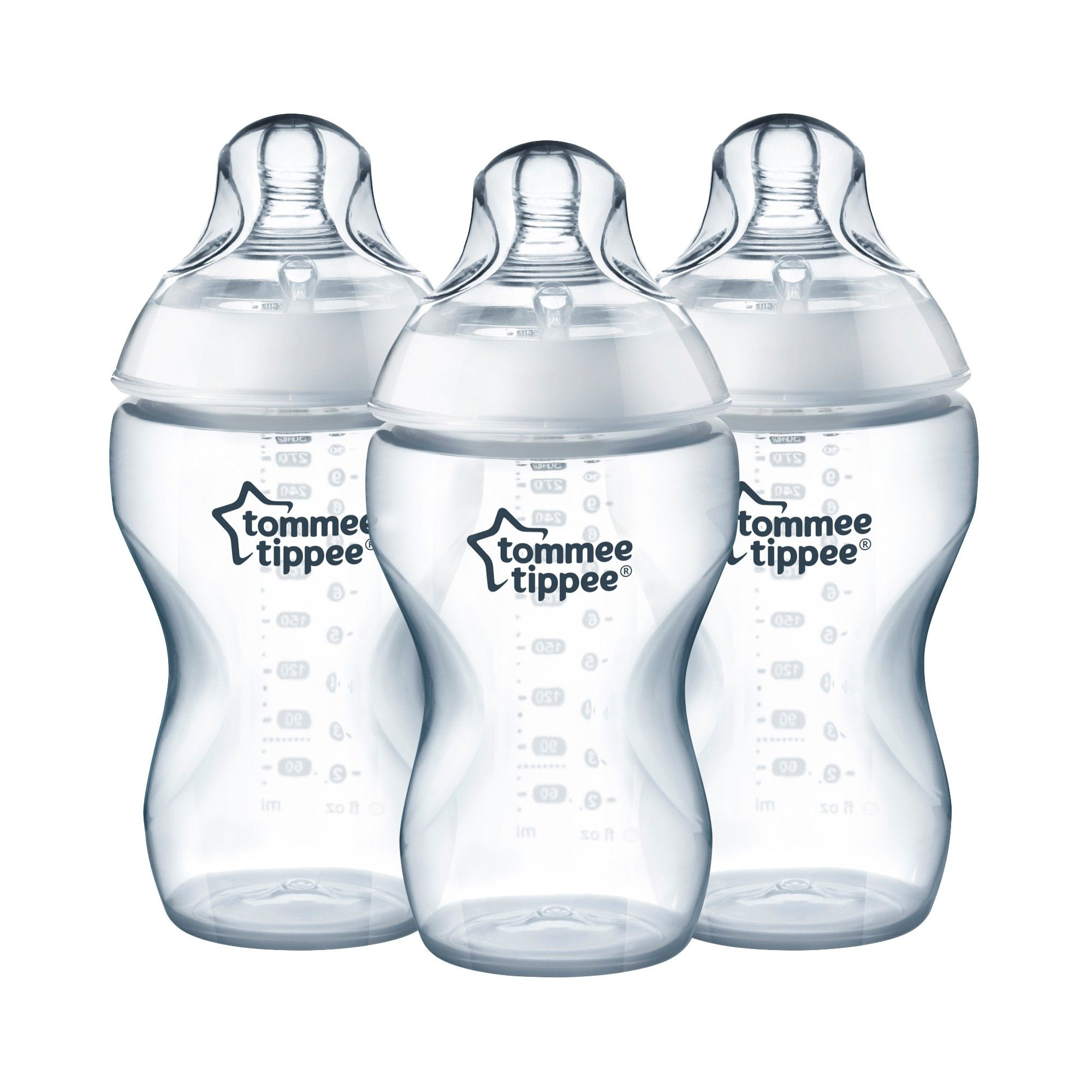 Tommee Tippee Closer To Nature Added Cereal Bottle 3pk 11oz Clear Products Baby Bottles Bottle Feeding Bottle