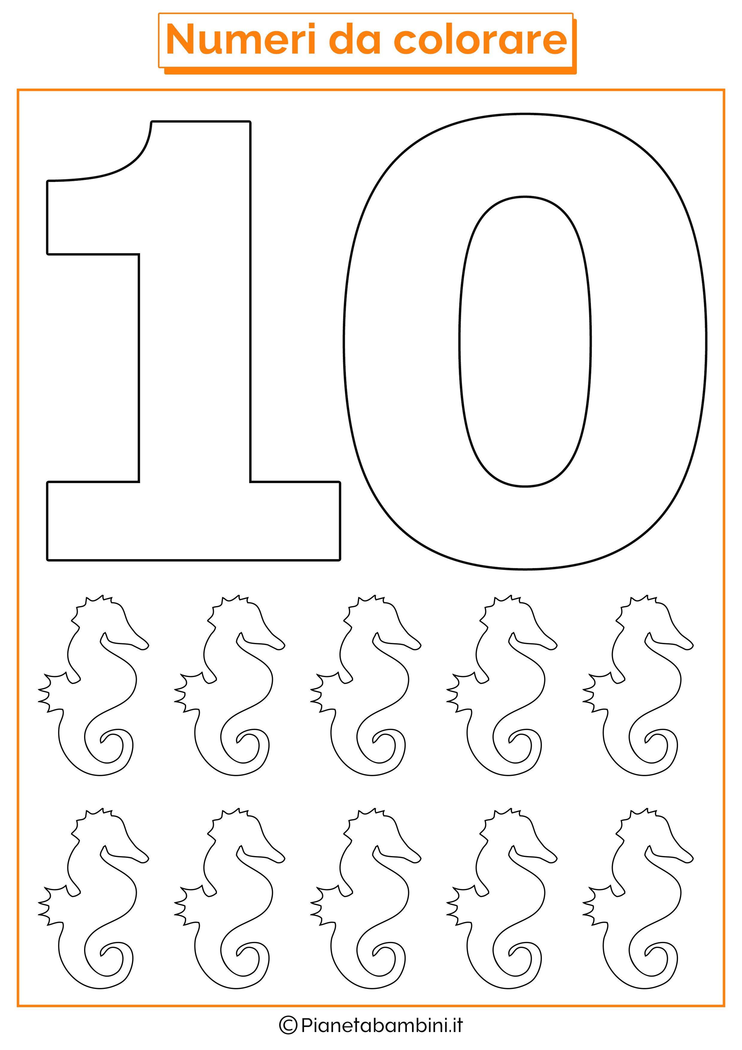 Numeri Da Stampare Colorare E Ritagliare Per Bambini Con Numero 0 Da