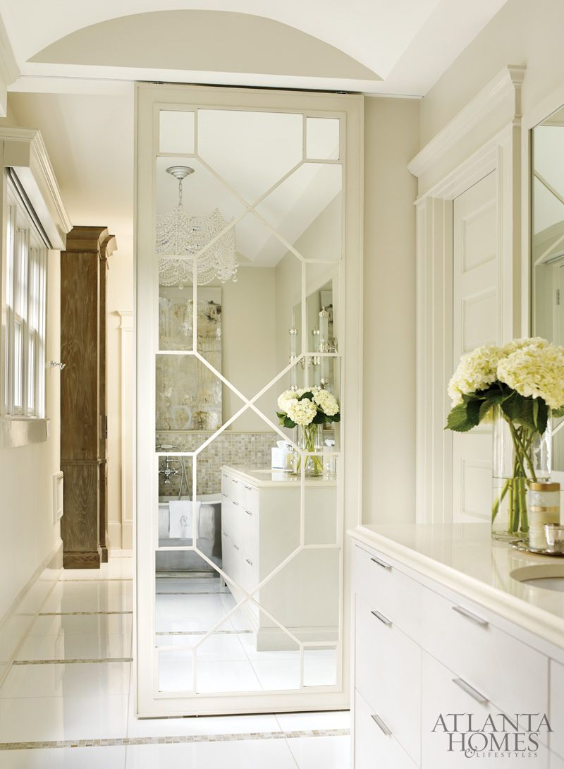 Sliding Mirrored Bathroom Door Classy And Practical