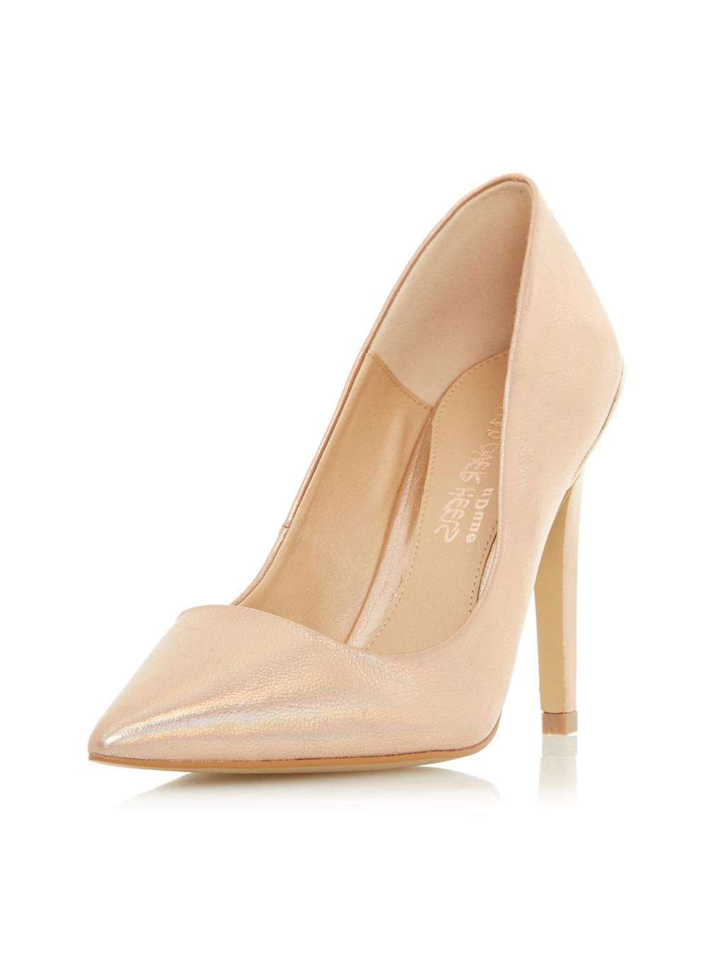 12d0c7a4c4f Womens  Head Over Heels By Dune Rose Gold  Addelyn  High Heel Shoes- Rose  Gold