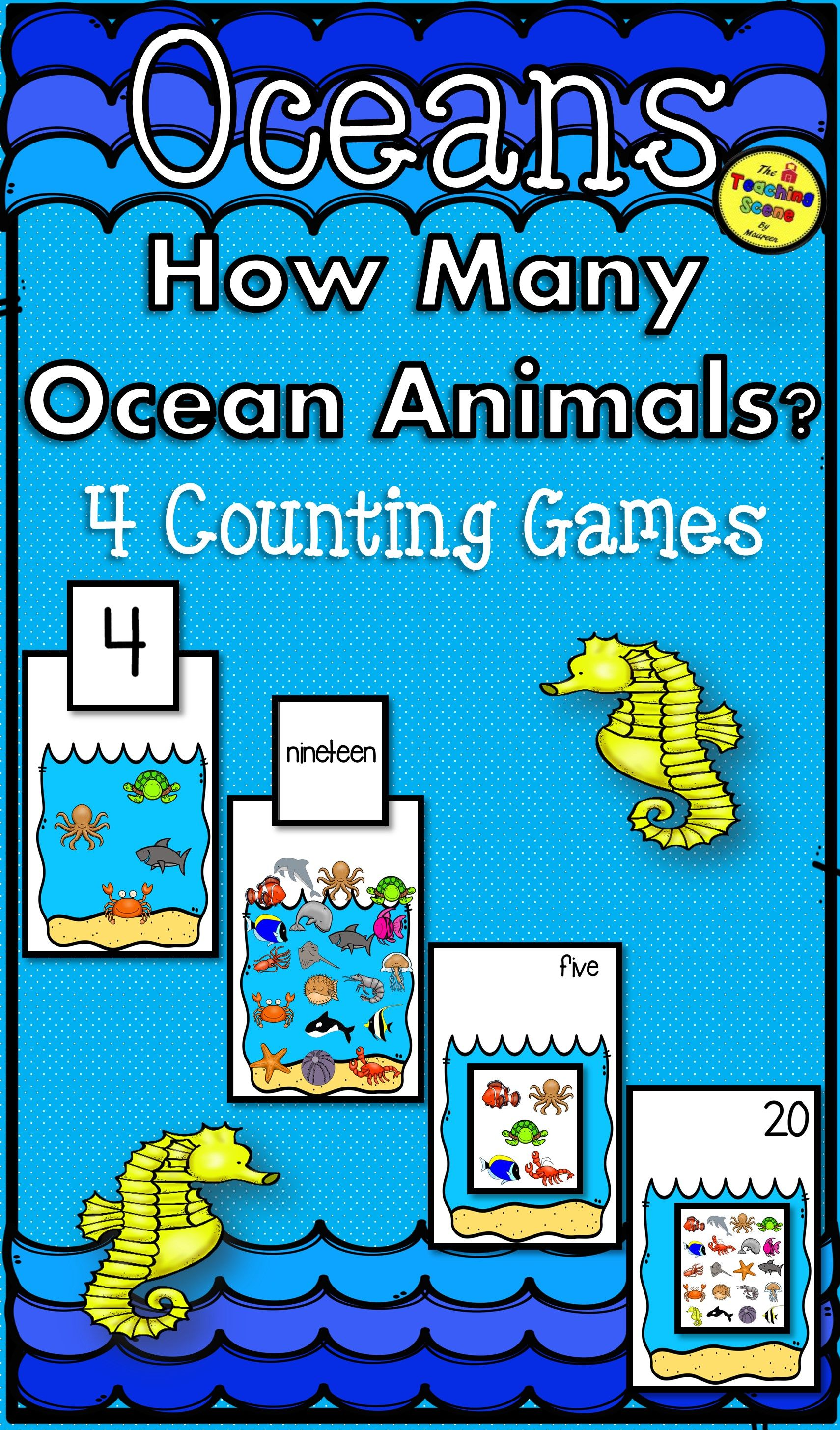 Ocean Counting Games How Many Ocean Animals