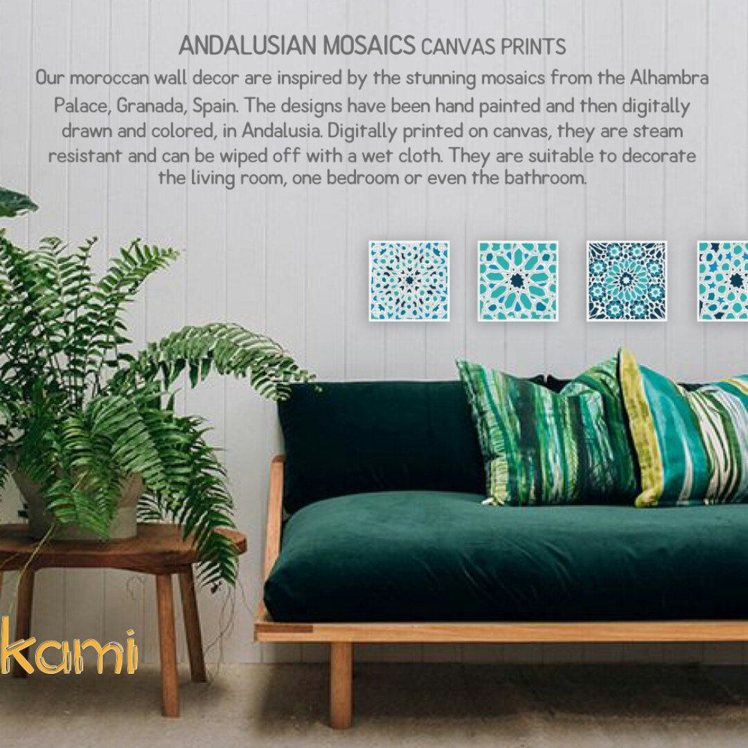 www.etsy/shop/mokami // beautiful moroccan mosaics wall decor