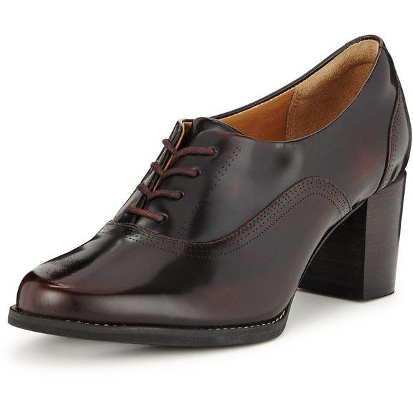 Clarks Tarah Victoria Heeled Brogue (78,575 KRW) ❤ liked on Polyvore  featuring shoes, · Lace ShoesUp ...