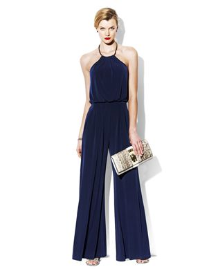 3c6386edf365 JUMPSUIT WITH METAL NECKLINE Wearing this to the Pairings Party ...