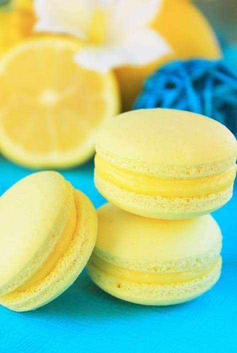 Macaron au citron, Pierre Hermé - #macaronrecette