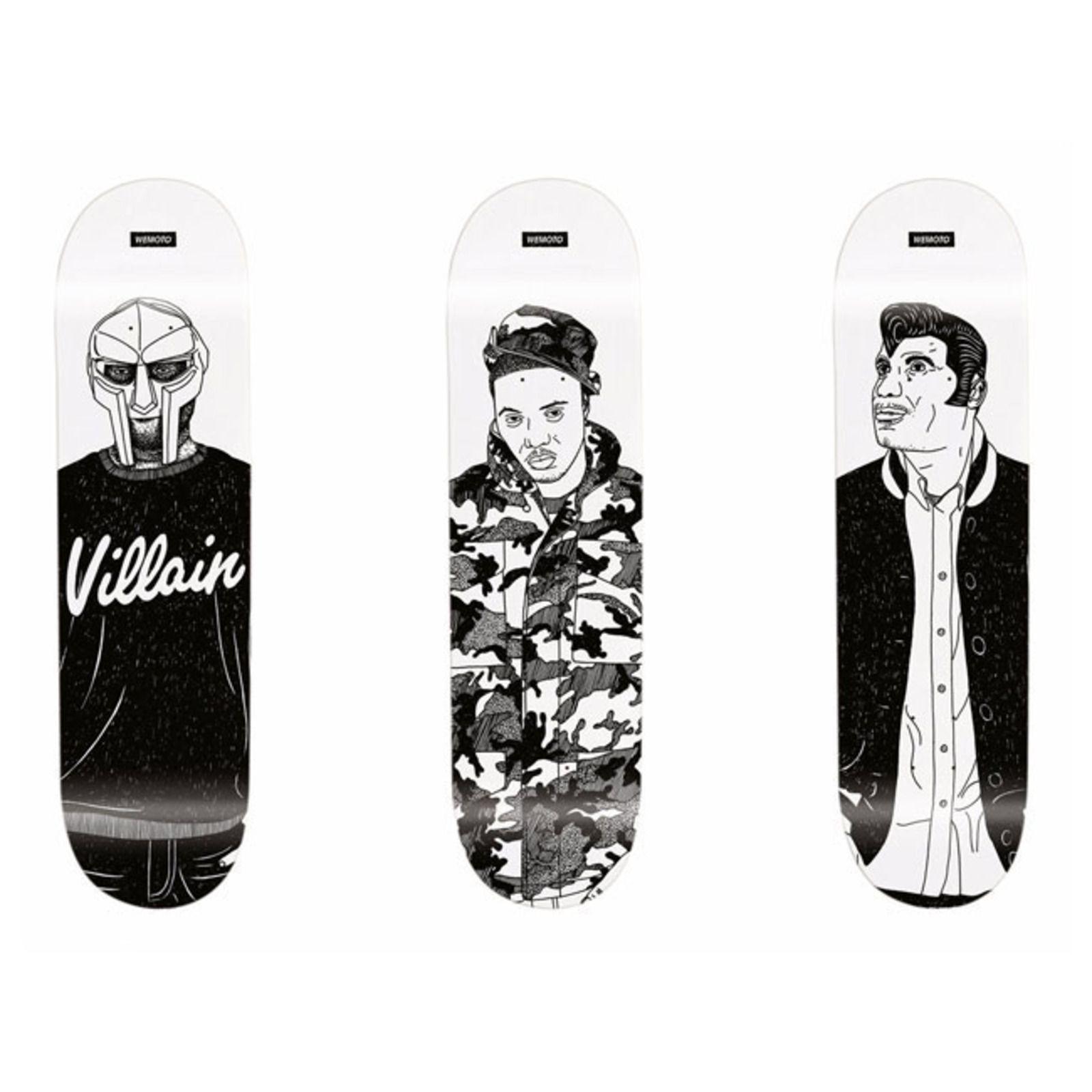 Wemoto Clothing Rap Idols Series Skateboard Skateboard Design Mf Doom