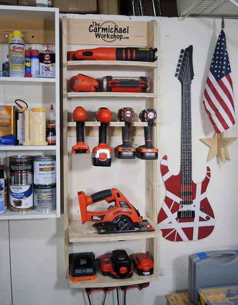 Cordless Tool Charging Station Garage Pinterest Garage