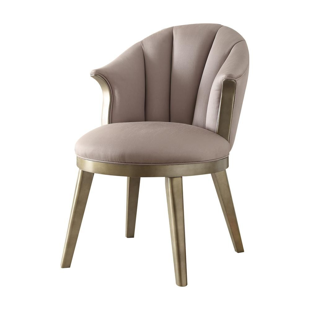 Champagne Army Metal Accent Chair: Acme Furniture Brecken Light Lavender Fabric And Champagne