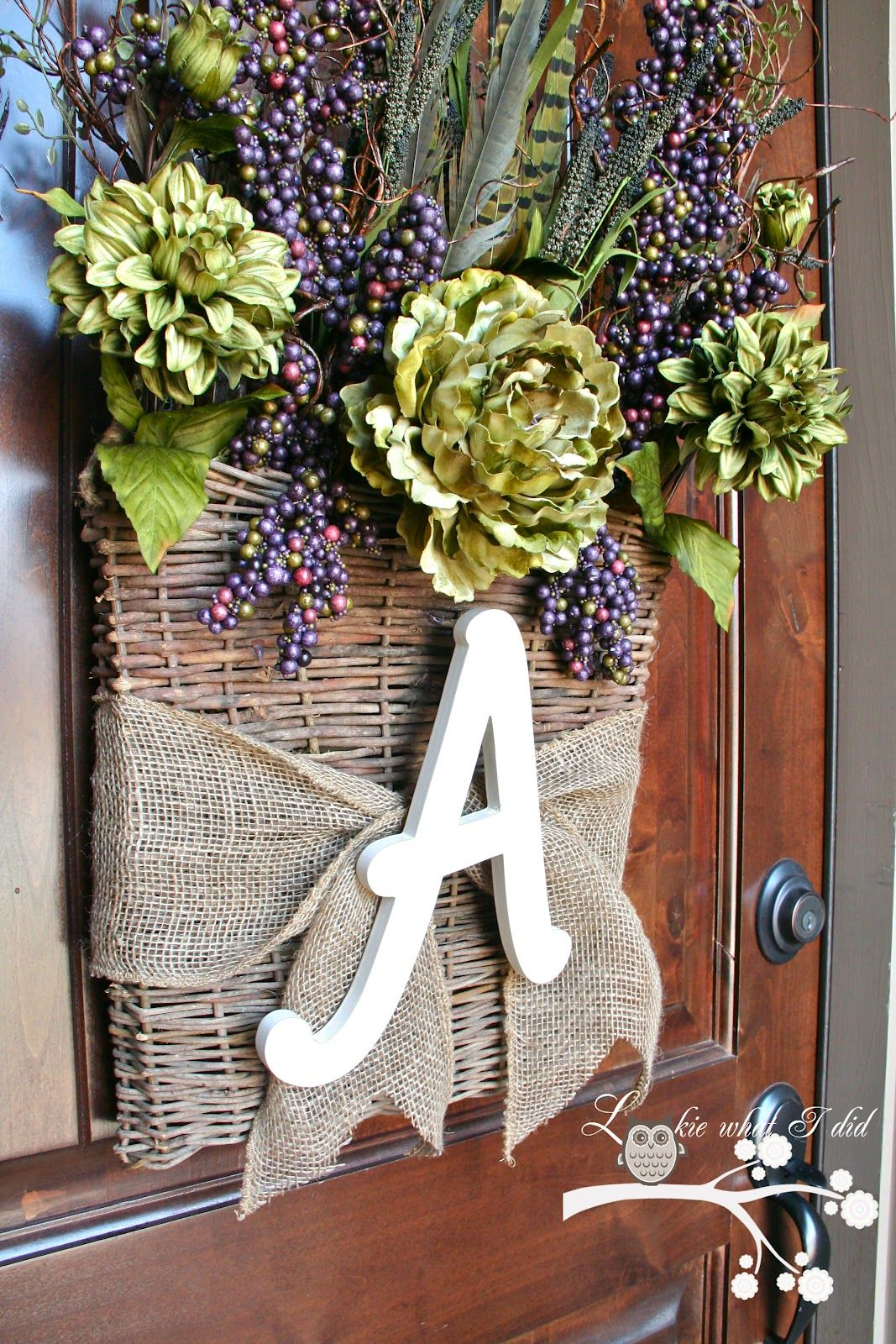 Exterieur Jute Alternative To A Wreath Toile De Jute Bricolage