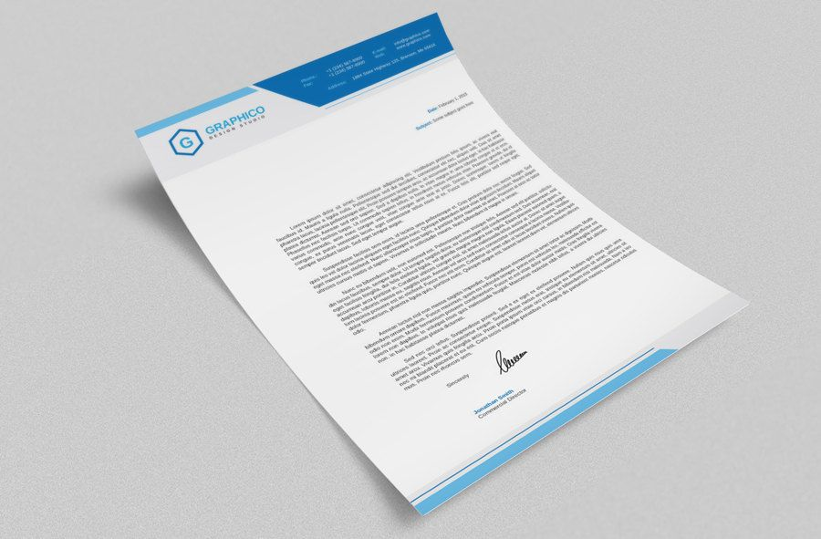 Corporate Letterhead Design Template Adobe Illustrator