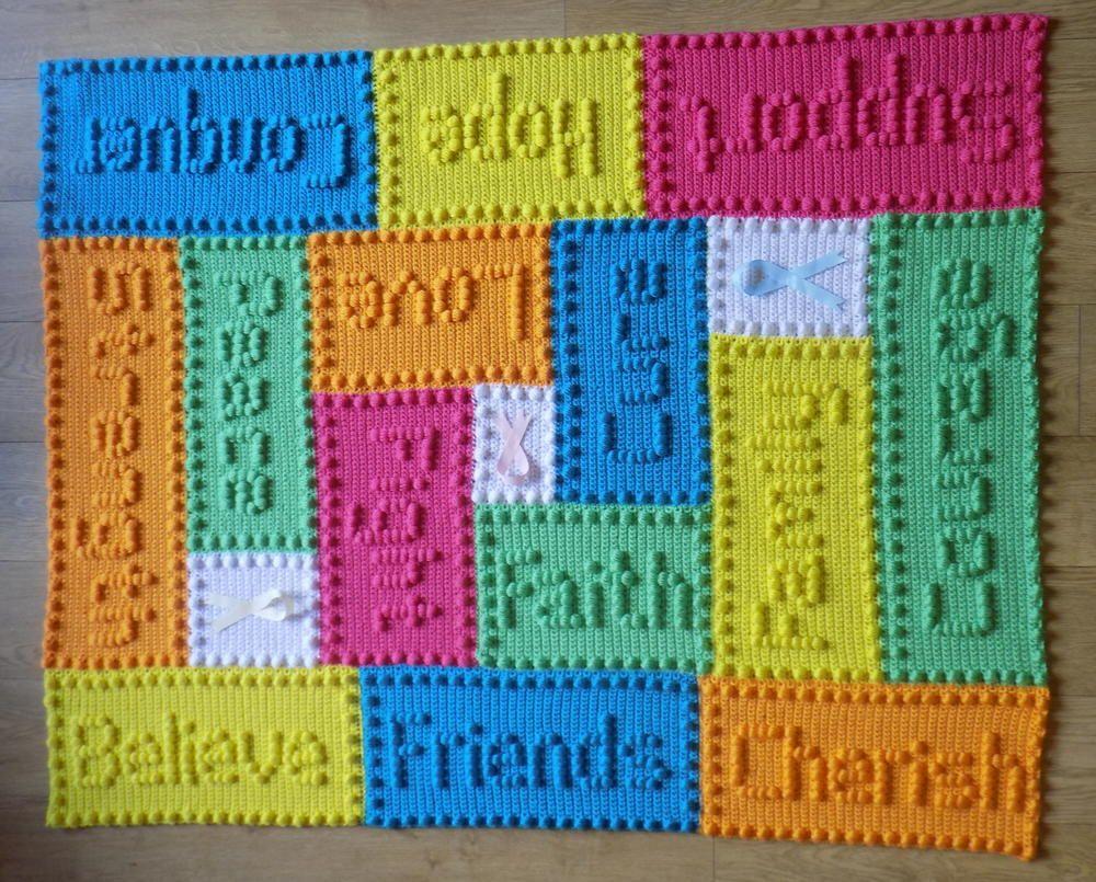 Cancer Support Motifs Lap Blanket   Cancer support, Blanket and Crochet