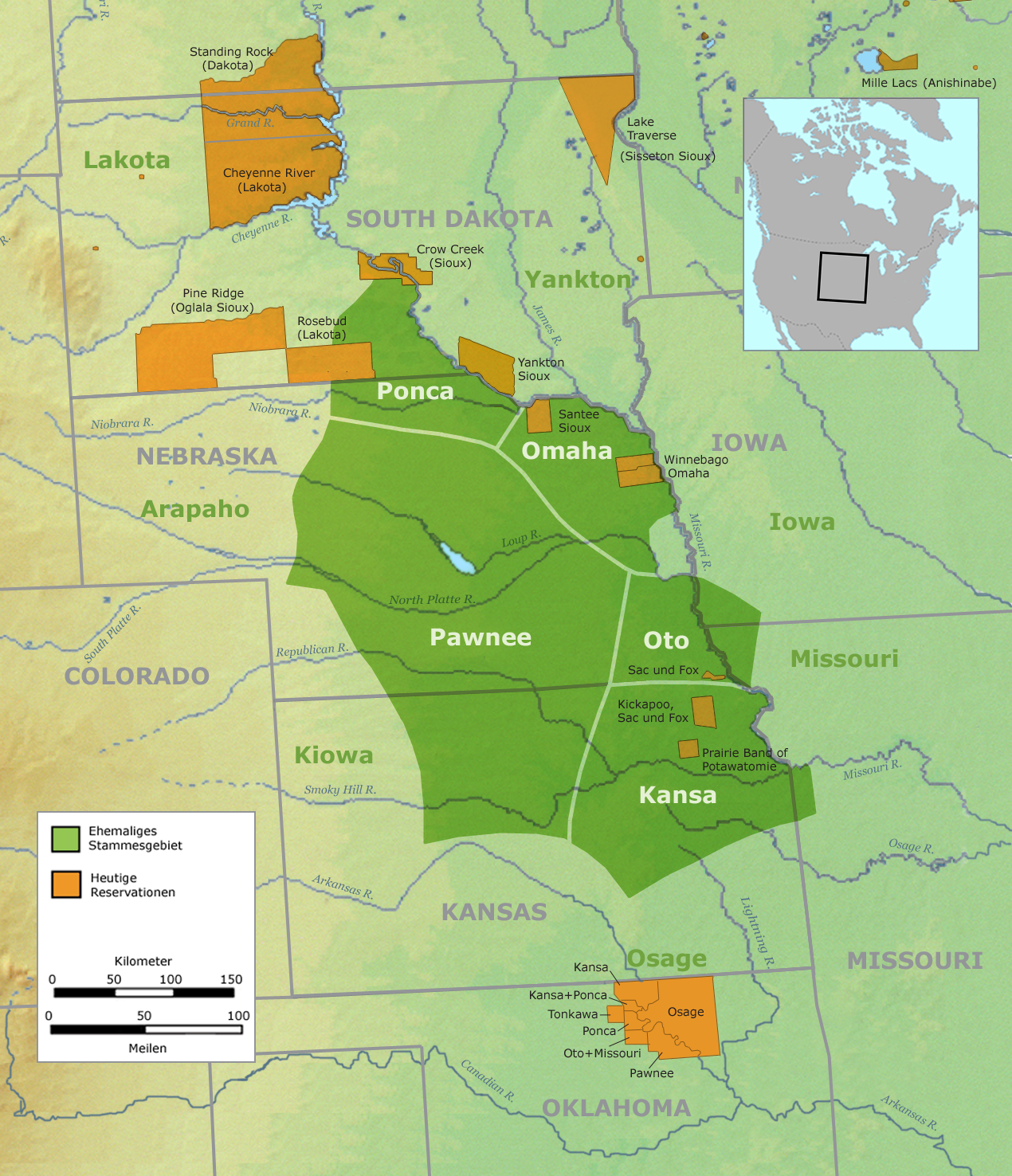This Map Shows The Territory Of The Pawnee Tribe The Pawnee Tribe Lived In South Dakota Kansas And Nebraska The Green Regions Of The Map Represent Their