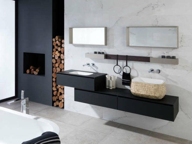 estupendos diseños de cuartos de baño de Porcelanosa | Mueble baño ...