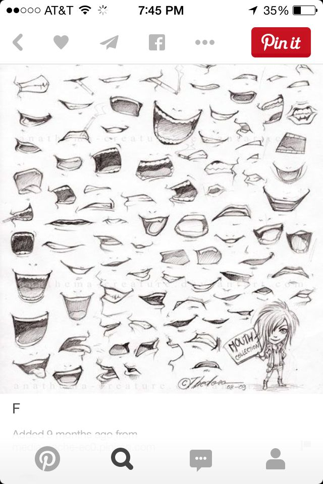 Different types of mouths to draw in 2020 | Sketches, Lips ...