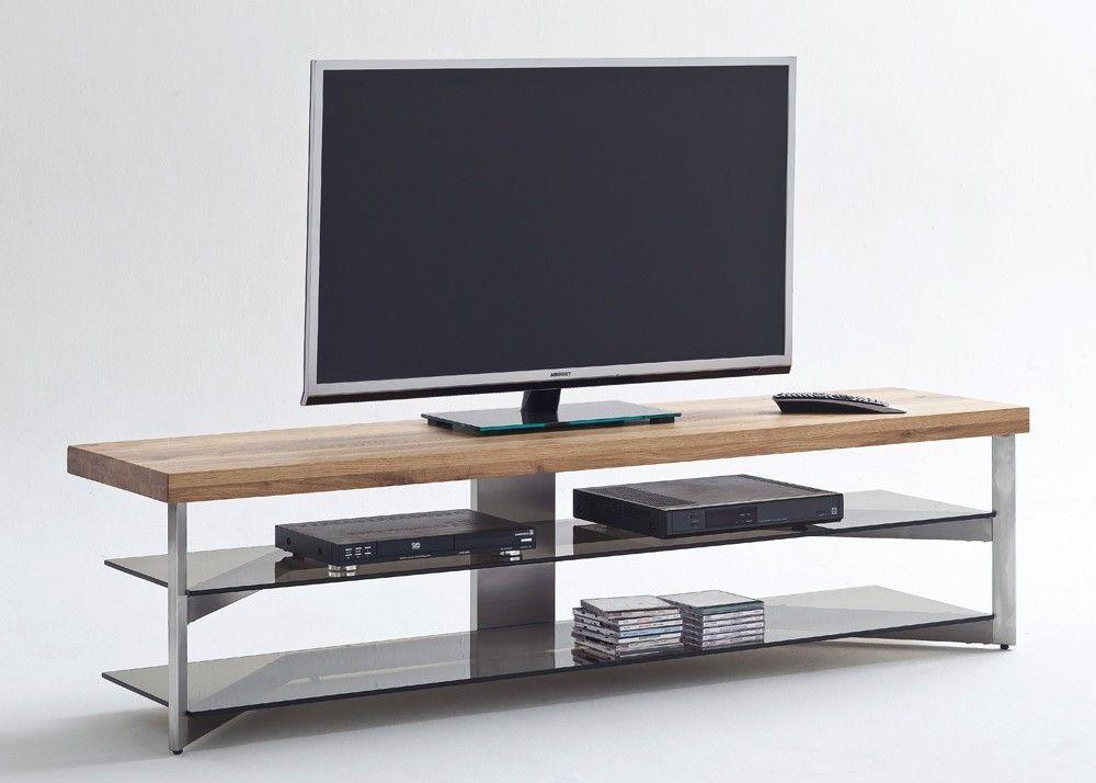 Lowboard Fabia I mit Ablageböden Holz Eiche 20561. Buy now at https://www.moebel-wohnbar.de/lowboard-fabia-i-mit-ablageboeden-holz-eiche-20561.html