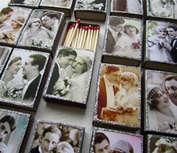 Lembrança para casamentos com caixas de fósforos. #casamento #lembranças #convidados #fósforos