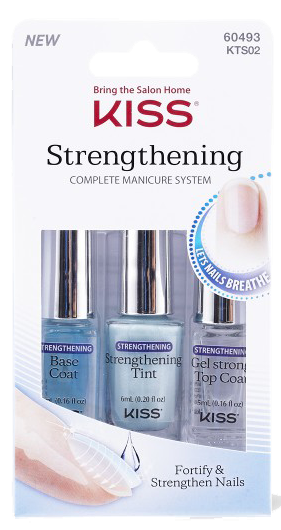 Kiss Nails Strengthening Breathable Manicure System helps