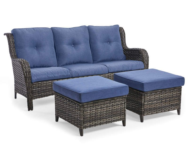 Best Wilson Fisher Oakmont Navy Blue Cushioned Sofa Ottoman 400 x 300