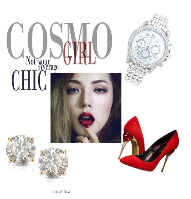 """chic"" by medwin on Polyvore featuring beauty, Lane Bryant, Oscar de la Renta and Auriya"