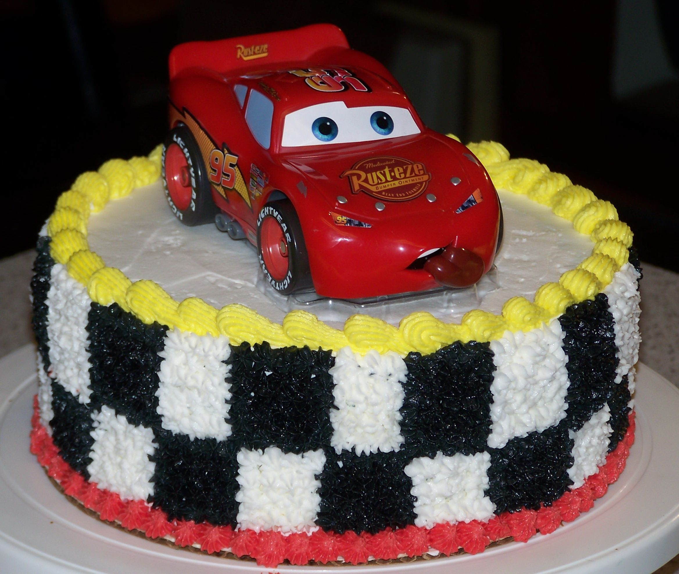 Cars Birthday Cake for my Grandson Car themes Car cakes and
