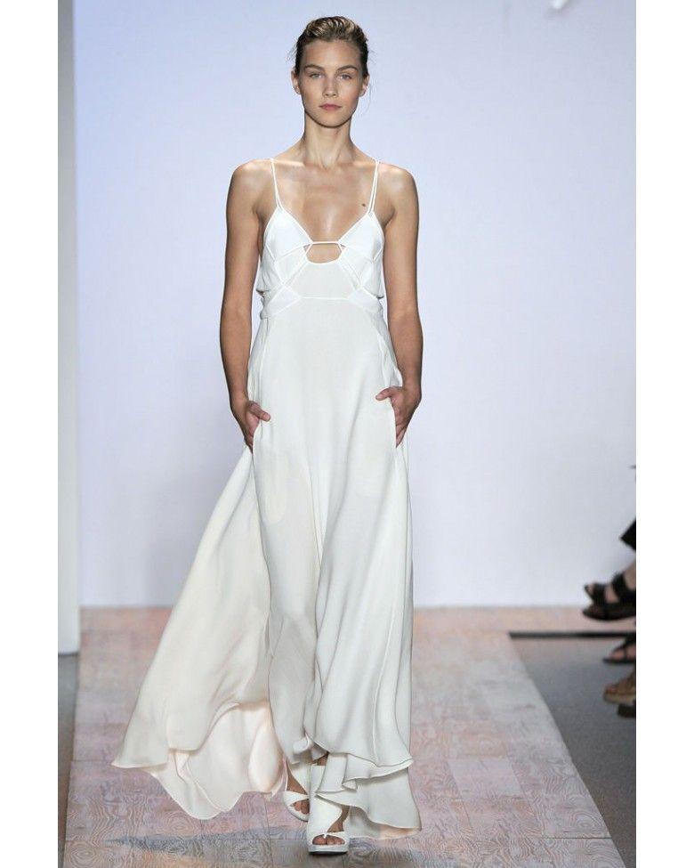 Max Azria Runway Off White Silk Crepe Laser Cut Dress   BCBG ...
