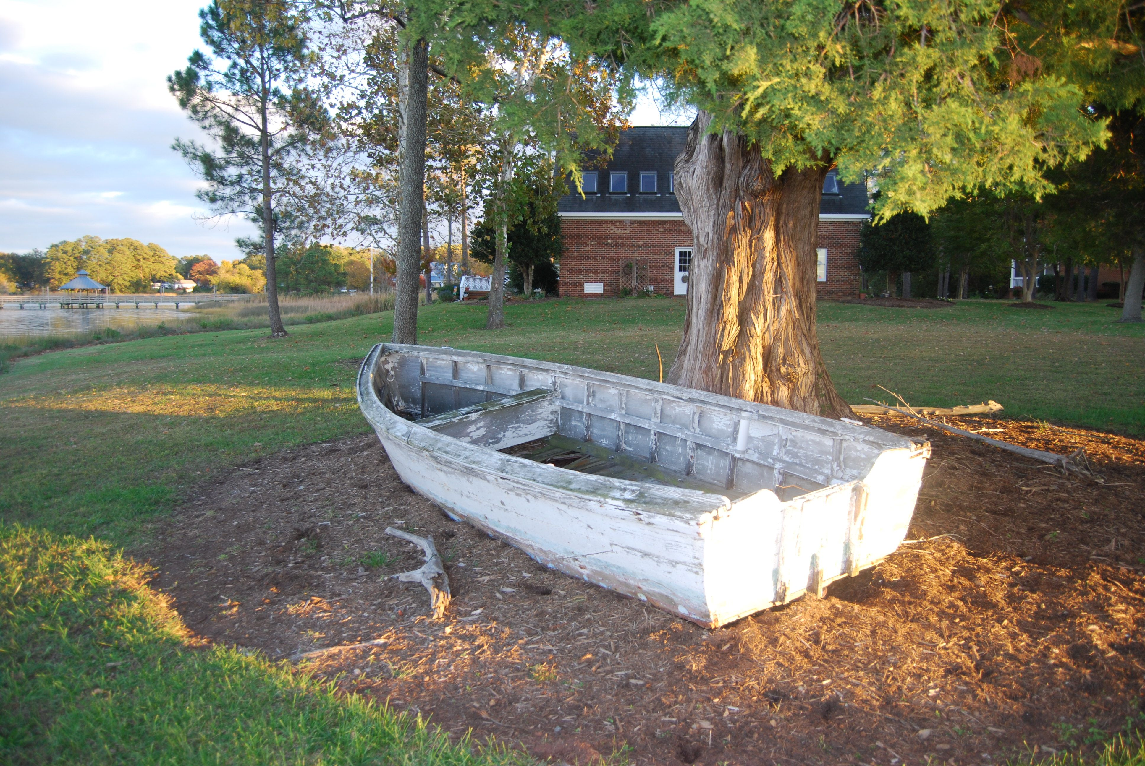 Wooden row boats for sale boat garden planter for Garden accessories sale