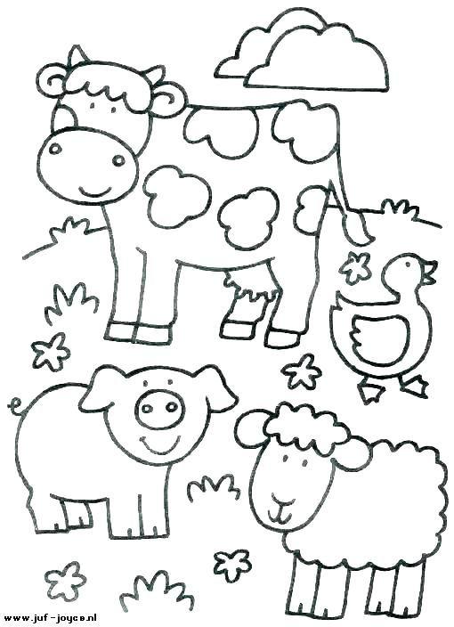 Farm Animal Coloring Book Printable Children Animals Pages Free Farm Coloring Pages Animal Coloring Books Farm Animal Coloring Pages