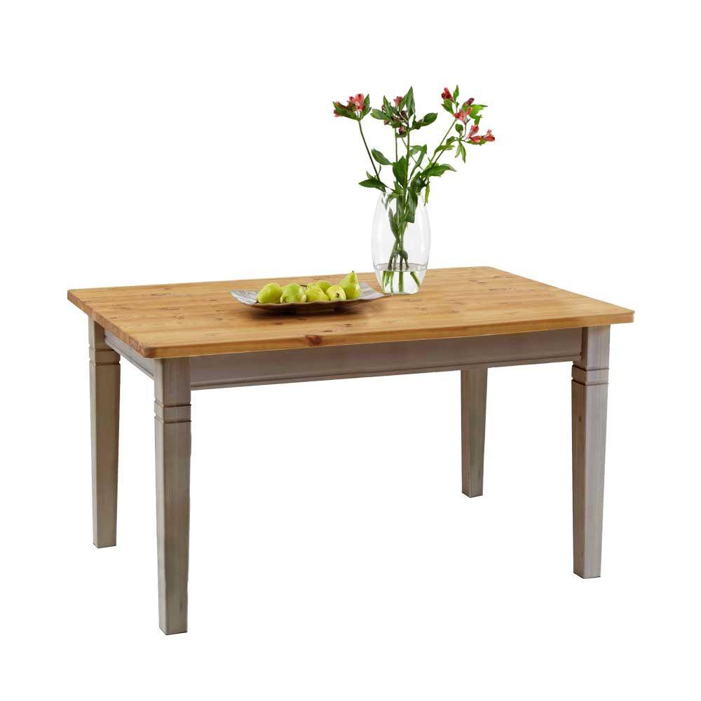 Landhaustisch in Grau Kiefer massiv holztisch,massivholztisch ...