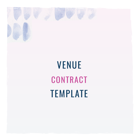 Venue Contract Template From The Shop Contractsforcreatives Legaltipsforcreatives Contracts Creativeentrepreneurs Smallbusinesses
