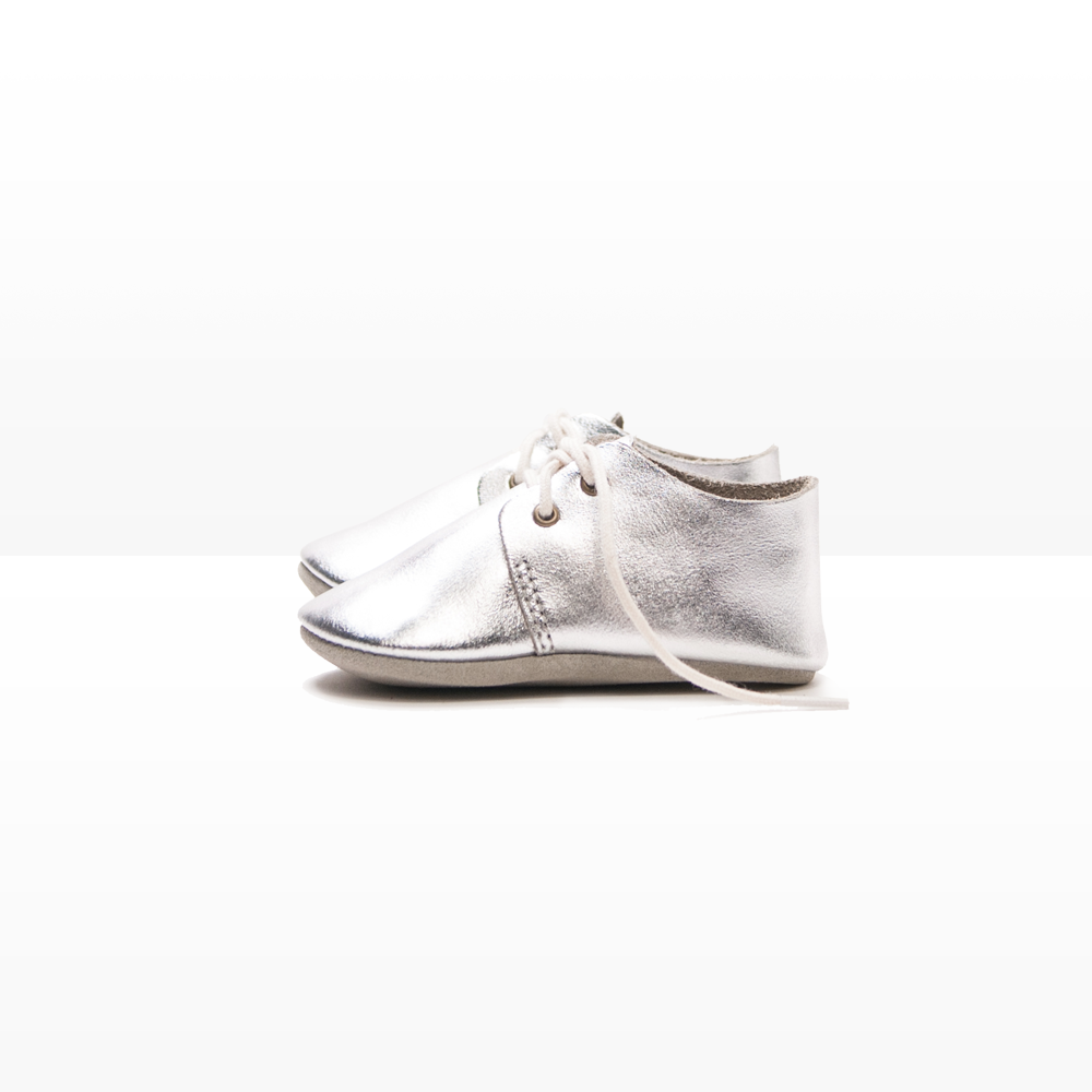 BABY OXFORD / SILVER | Zuzii | Handmade Footwear from Los Angeles
