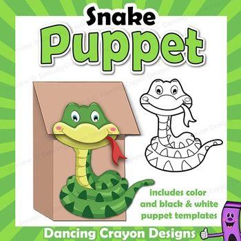Puppet Snake Craft Activity | Printable Paper Bag Puppet Cobra ...
