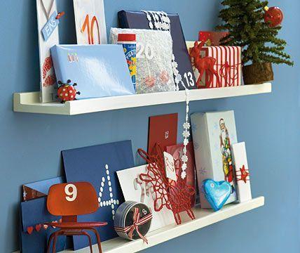 Living At Home Adventskalender adventskalender auf dem regal adventskalender basteln 7 living