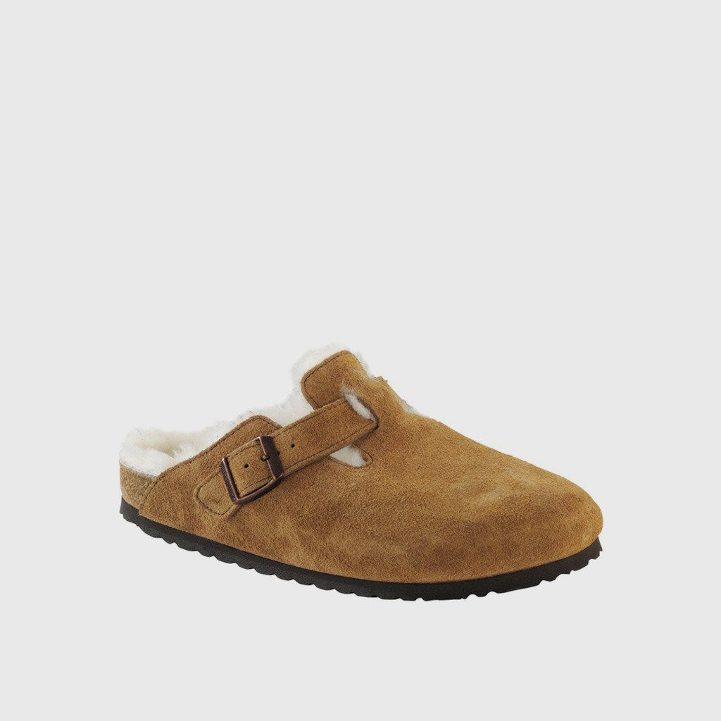 9e17092ff3 Boston Shearling Clog - Mink Suede | Coveting | Birkenstock ...