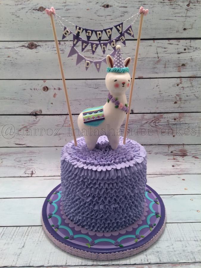 Bunny lama cake by Natasha Rice Cakes