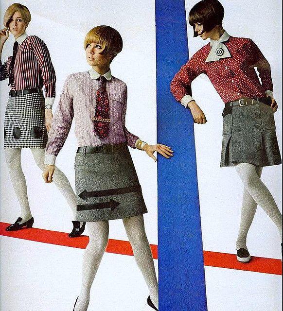 Mini Skirts From Seventeen August 1966 Sixties School Girls