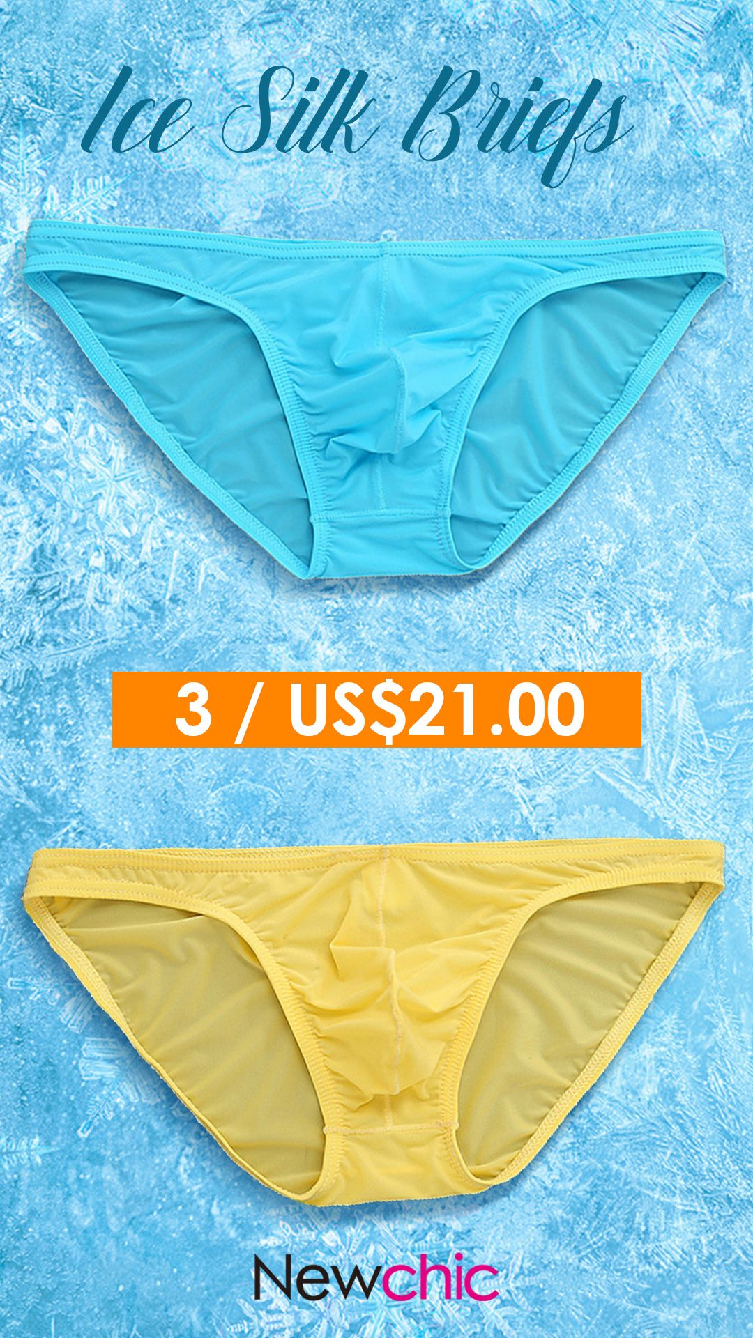 162acf0d856 【 3 / US$21】US$7.88--Sexy Breatahble Translucent Ice Silk Briefs for Men