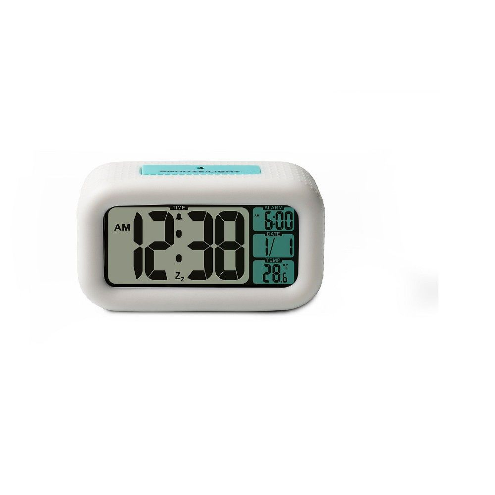 This White Alarm Clock from Timelink has all the features