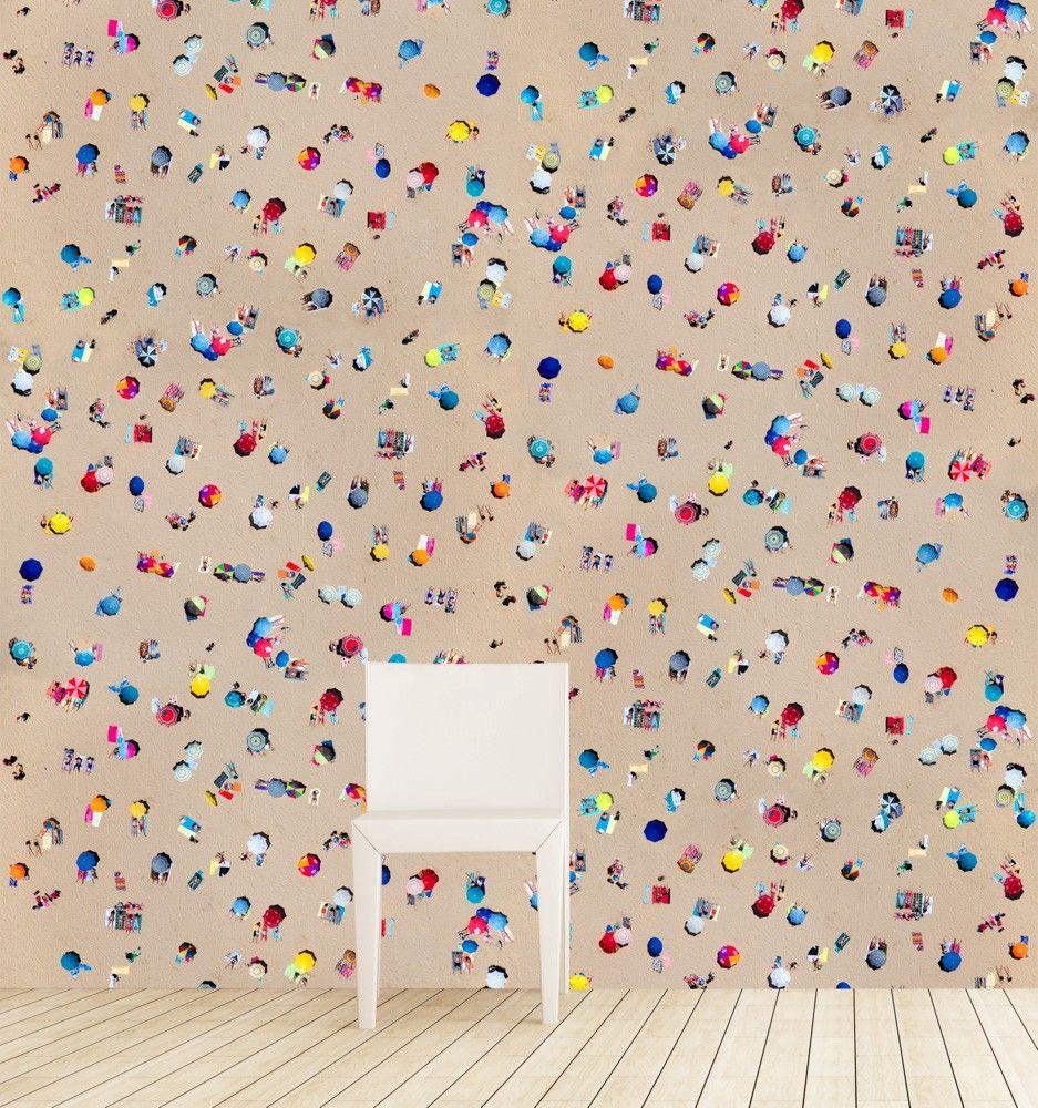 Gray Malin Lisbon umbrellas wallpaper | VvS | Pinterest | Bathroom ...