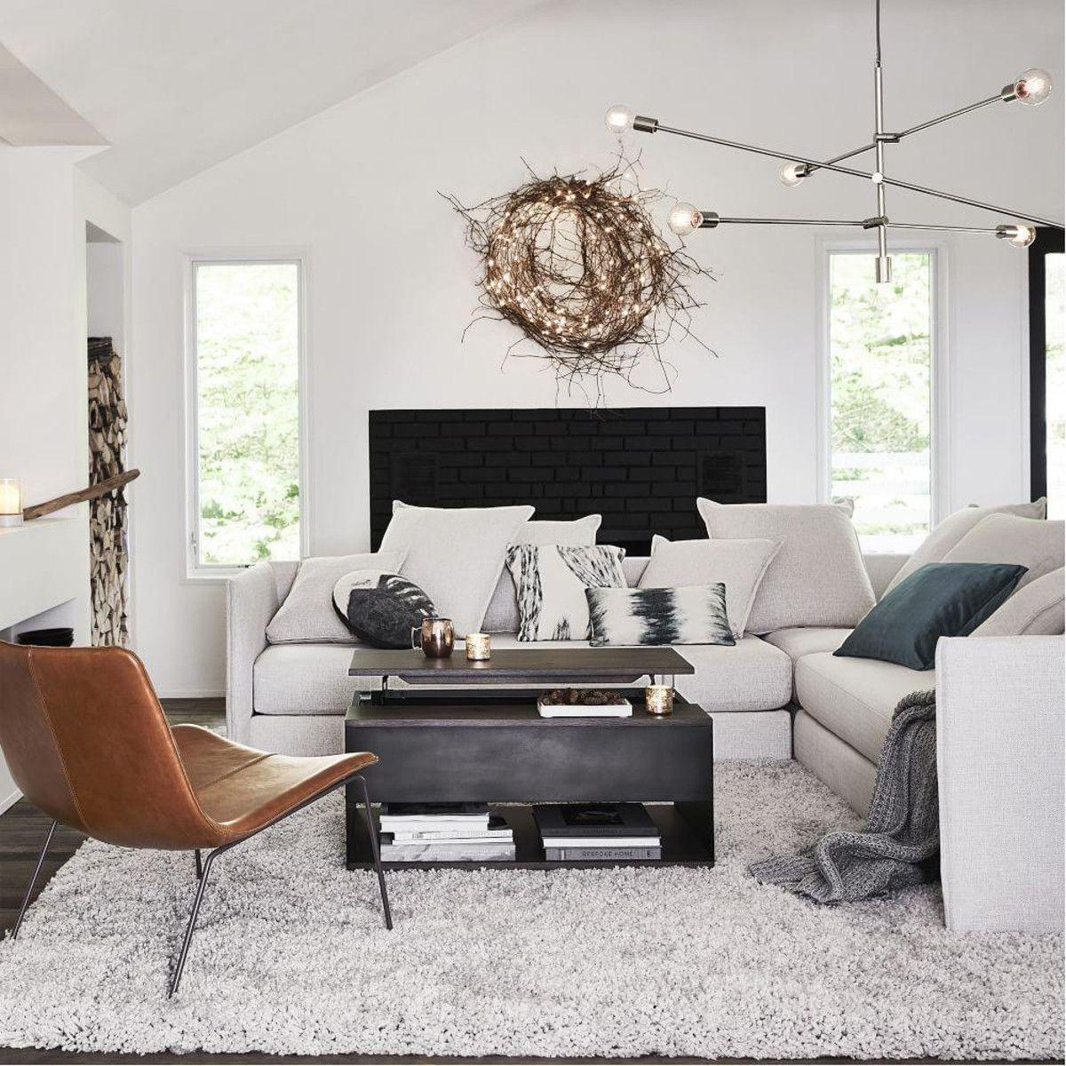 Cozy Plush Rug Frost Grey Home Decor Styles Interior Design Living Room Living Room Interior #plush #living #room #furniture